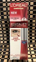 L'Oreal Revitalift Deep Set Wrinkle Repair 24HR AM/PM Eye Cream DUO 0.2 oz New - $19.79