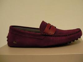 Lacoste Herren Freizeit Schuhe Slipper Dunkelrot Größe 7.5 US Neu mit Karton - $125.89