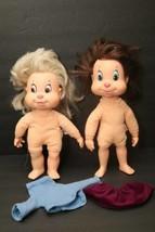 IDEAL The Chipettes 2 Rare Vg Dolls 1984 Jeanette & Eleanor Alvin Chipmu... - $58.36