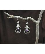 Fancy Gemstone Earrings solid Sterling Silver - High end fine Jewelry, a... - $146.00