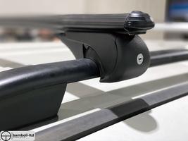 Black Fit For HYUNDAI Santamo Top Roof Rack Cross Bars Rails Lockable 1999-2001 - $111.27