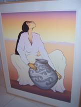 "RC GORMAN Navajo ""SALINA"" Signed L/E Lithograph Art '89 Native American ... - $5,195.00"