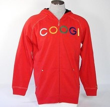 Coogi Signature Red Hooded Jacket Sweatshirt Hoodie Boys Medium M 10 12 ... - $37.12