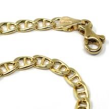 Bracelet or Jaune 18K 750, Chaîne Traverse Rainurée Ovale, Épaisseur 3mm image 2