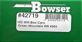 Bowser HO Scale 42719 Green Mountain 40'  Box car  #504 image 3