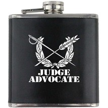 Judge Advocate US Army Veteran Soldier Groomsman Gift Leather Wrapped Flask - $19.79