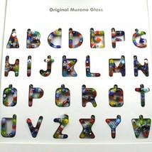 Pendant, Letter Glass Murano, Initial T, Length 2.5 CM, Murrine image 2