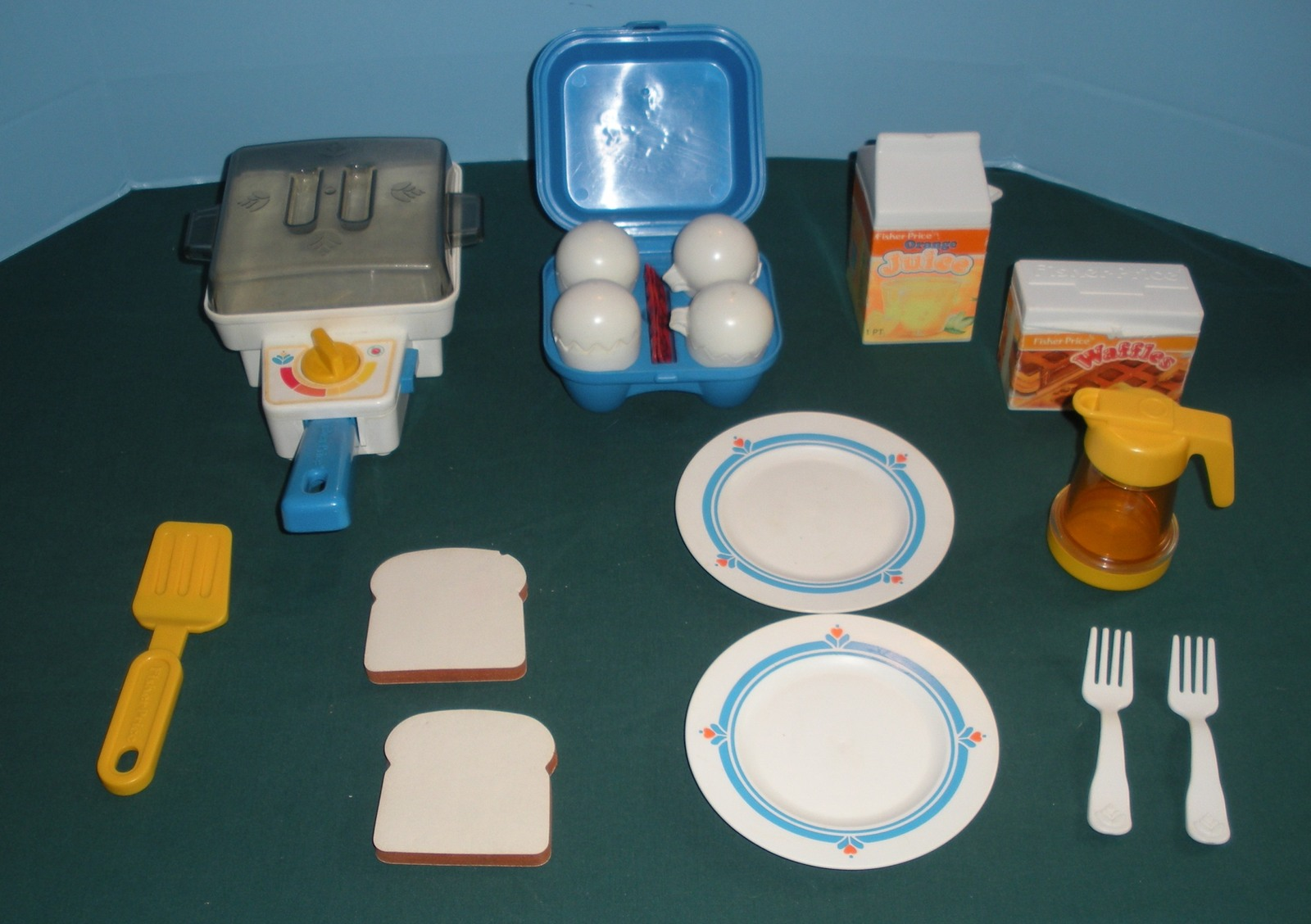 Fisher Price Fun w/Food #2115 Super Skillet Breakfast Comp+ BONUS./EXC++ NR MT Q