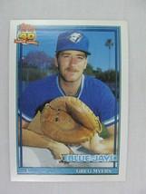 Greg Myers Toronto Blue Jays 1991 Topps Baseball Card 599 - $0.98