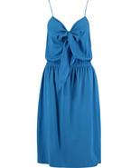 DKNY Blue Silk Bow Dress BNWT - $115.63