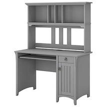 Bush Furniture Salinas Computer Desk with Hutch in Cape Cod Gray - $359.47