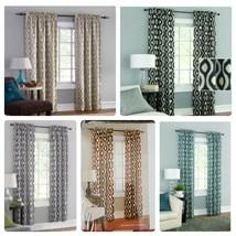 Mainstays Thermal Wave Print Room Darkening Window Curtain 2 Panels 30 x 84 each - $19.99