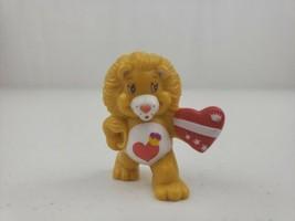 VTG Care Bear Cousin Figure Brave Heart Lion & Heart Shield ACG 1984 2in... - $42.00