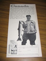 1960 Print Ad Canadian Government Travel Fishing Ottawa,Canada - $10.40