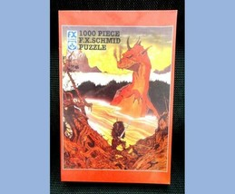 """1996 F.X.Schmid Sealed Dragon Of Wantly 1000pc Puzzle Gothic 20x27"""" - $87.95"""