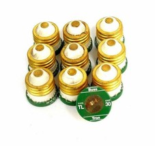 LOT OF 10 BUSSMANN TL-30 TIME DELAY FUSES 30A, TL30