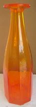 Hand Made Mouth Blown Blown Cristal Nova Amberine Color Octagon Shape Gl... - $174.99