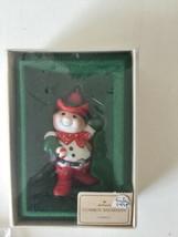 1982 - Cowboy Snowman - Hallmark Christmas Ornament - Vintage IOB - $7.91