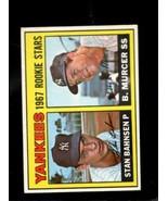 1967 TOPPS #93 STAN BAHNSEN/BOBBY MURCER VG+ RC YANKEES ROOKIES  *X3363 - $3.96