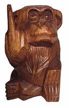 Bad Monkey (B) Rude Flipping The Bird Giving Finger Statue 6 in WorldBazzar Bran - $27.66