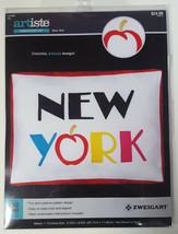 ARTISTE NEW YORK CROSS STITCH KIT 1215599 Big Apple City Travel State Zw... - $14.99