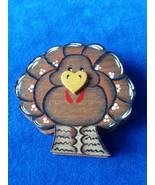 "Handcrafted Wood Turkey Decor 3"" - $2.80"