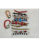 Women's Watch Lot with Bead Bracelet Bands Swap Interchangeable - $44.95