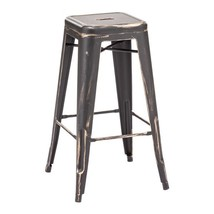 barstools, Black Gold Marius metal rustic industrial barstools chair, se... - $323.99