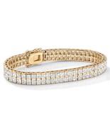 "6 TCW Princess-Cut CZ 14k Gold-Plated Tennis Bracelet 7.25"" - $57.59"