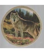 Gray Wolf Coaster - Defenders of Wildlife - Greg & Company - Slight wear. - $1.37