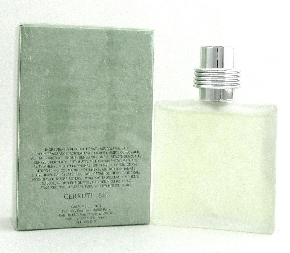 Cerruti 1881 by Cerruti Cologne for Men 3.4oz./100ml. Eau de Toilette Spray. New