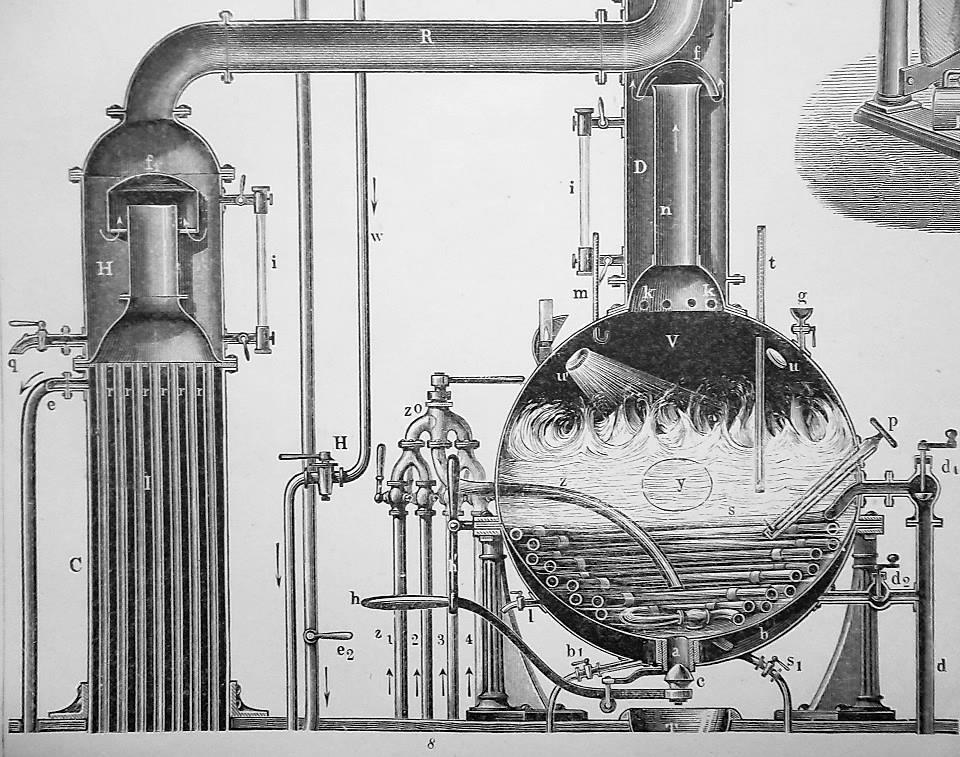 SUGAR Manufacture Grinder Sludge Press Filters Centirfuge - 1870s Superb Print