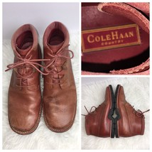 Cole Haan Womens Size 8.5 B Boots Lace Leather Brown (N) - $61.74