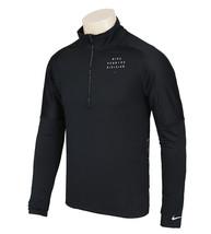 Nike Element Run Division Men's Half Zip Running Top Black CU7853-010 - $99.99
