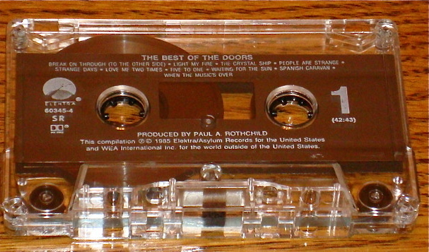 THE BEST OF THE DOORS ORIGINAL CASSETTE    JIM MORRISON