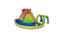 Banzai Inflatable Summit Splash Adventure Splash Kiddie Pool Slide Water... - $1,299.99