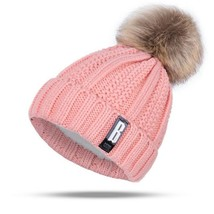 Hat Women Beanies Skullies Winter Knitting Pompoms Ball Warm Casual Thic... - $9.99