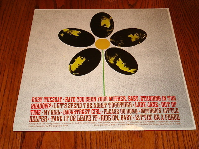 THE ROLLING STONES FLOWERS LP