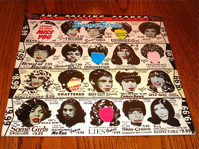 THE ROLLING STONES SOME GIRLS LP OOP COVER WITH STICKER SEALED