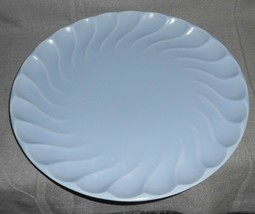 1930s Metlox YORKSHIRE PATTERN Matte Blue CHOP PLATE/PLATTER Made in Cal... - $39.59