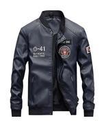 Mens Winter Pilot Leather Jacket Men Air Force Flight Male Coat Motorcyc... - $177.15