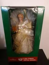 """Kurt Adler 12"""" LED Fiber Optic Angel Christmas Tree Topper Ivory and Gold UL1983 - $39.55"""
