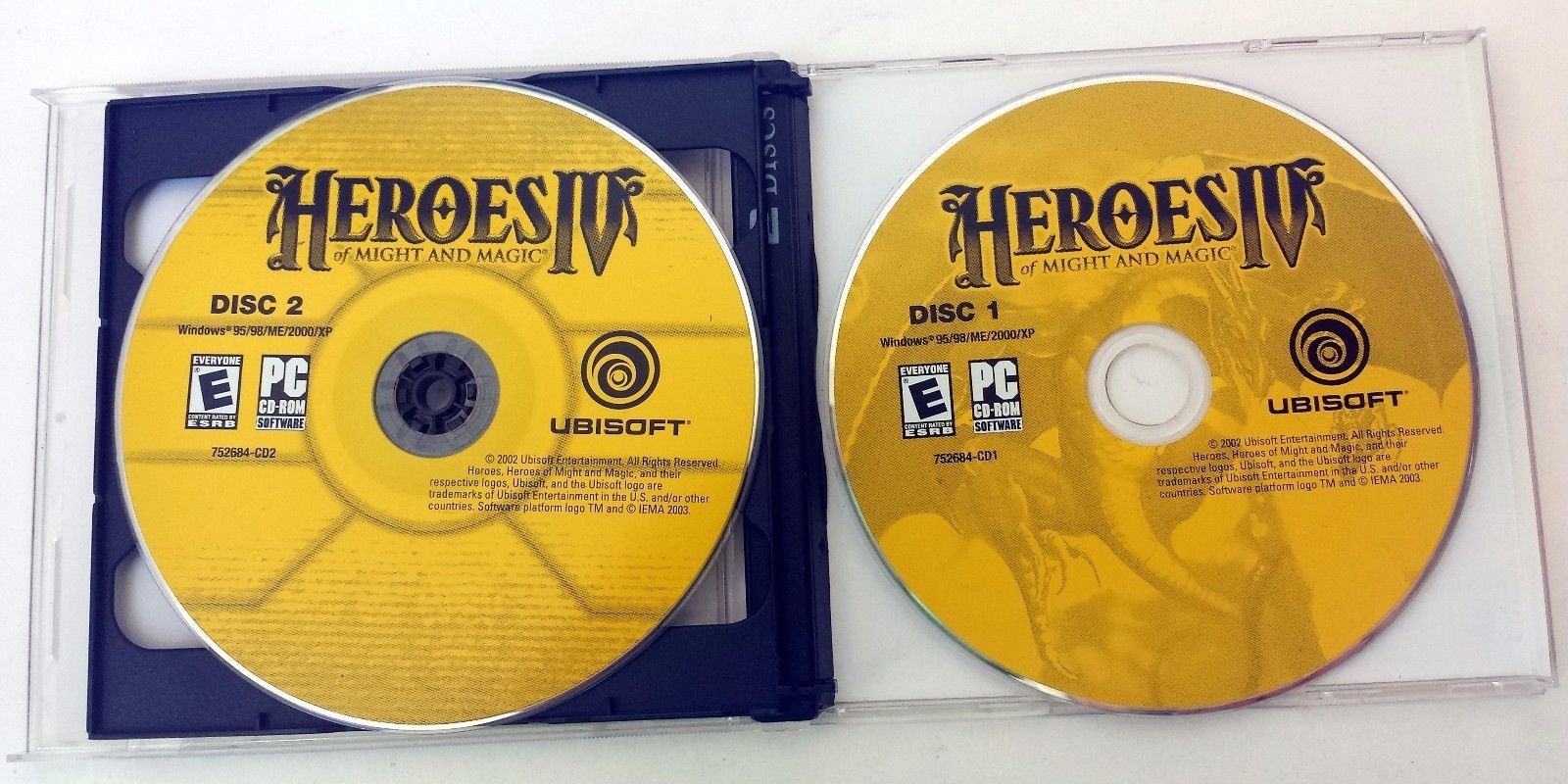 Heroes 4 Heroes Of Might And Magic PC Game Ubisoft 2 Disc 2002