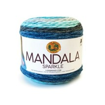 Lion Brand Sparkle Yarn in Aquarius (Blues) DK Weight