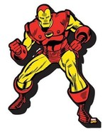 The Invincible Iron Man in Fighting Stance Chunky 3-D Die-Cut Magnet, NE... - $5.90