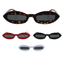 Hippie Squint Slot Lens Retro Plastic Oval Sunglasses - $13.32 CAD