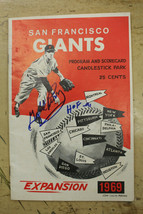 1969 San Francisco Giants Program Signed & Inscribed Gaylord Perry HOF 9... - $39.59