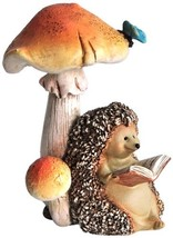 Top Collection Miniature Fairy Garden and Terrarium Hedgehog Reading Boo... - $20.87