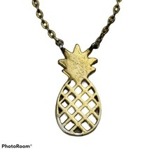 "Gold Tone Pineapple Necklace Pendant 16"" Fashion Costume Jewelry Fruit S... - $14.99"
