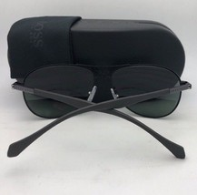 New HUGO BOSS Sunglasses 0875/S YPP85 Black & Silver Frame w/ Green Grey Lenses
